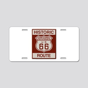 Rancho Cucamonga Route 66 Aluminum License Plate