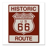 Rancho Cucamonga Route 66 Square Car Magnet 3