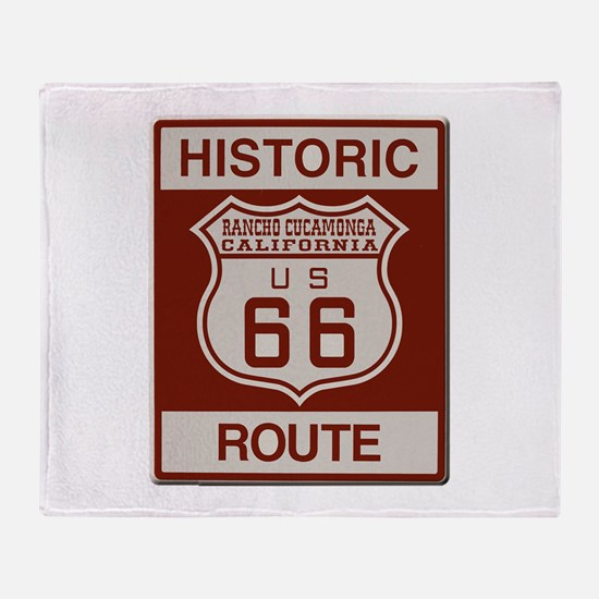 Rancho Cucamonga Route 66 Throw Blanket