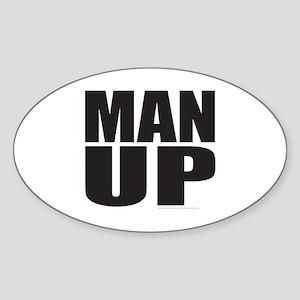 MAN UP Sticker (Oval)