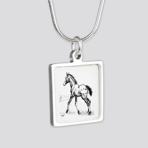 Appaloosa Silver Square Necklace