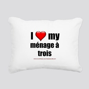 """Love Menage a Trois"" Rectangular Canvas Pillow"