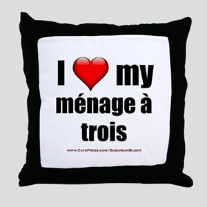 """Love Menage a Trois"" Throw Pillow"