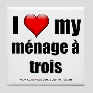 """Love Menage a Trois"" Tile Coaster"