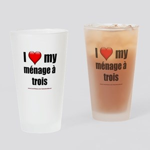 """Love Menage a Trois"" Drinking Glass"