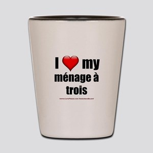 """Love Menage a Trois"" Shot Glass"