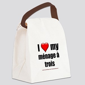 """Love Menage a Trois"" Canvas Lunch Bag"