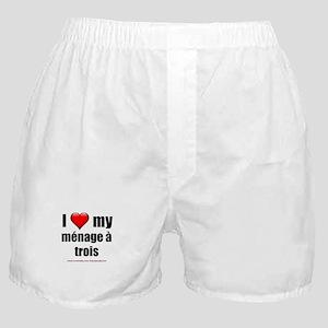 """""""Love Menage a Trois"""" Boxer Shorts"""