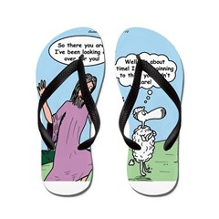 Lost Sheep Flip Flops