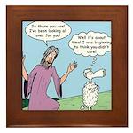 Lost Sheep Framed Tile