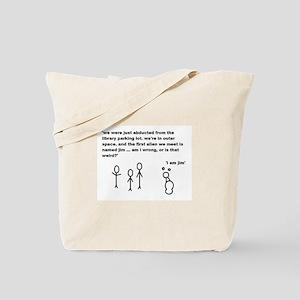 Jim the Alien Tote Bag