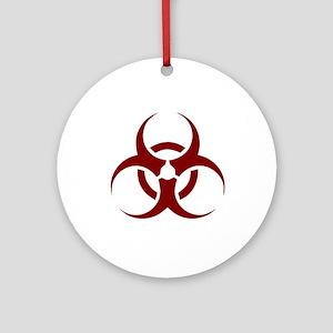 biohazard outbreak design Round Ornament