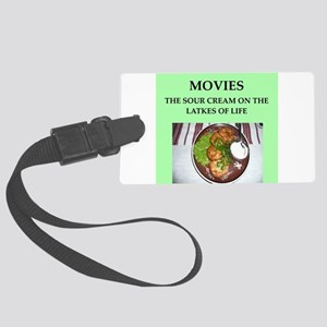 movies Large Luggage Tag