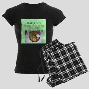 mahjong Women's Dark Pajamas