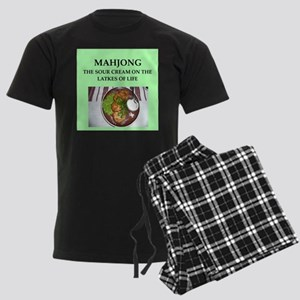 mahjong Men's Dark Pajamas