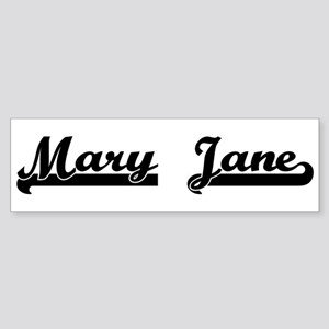 Black jersey: Mary Jane Bumper Sticker