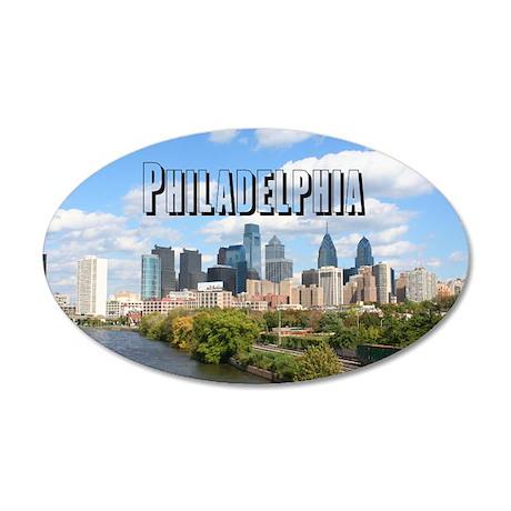 Philadelphia 20x12 Oval Wall Decal  sc 1 st  CafePress & Philadelphia Wall Decals - CafePress