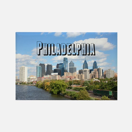 Philadelphia Rectangle Magnet