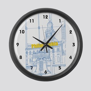 Philadelphia Large Wall Clock