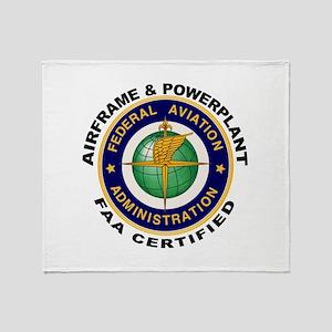 Airframe & Powerplant Throw Blanket