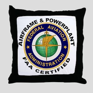 Airframe & Powerplant Throw Pillow
