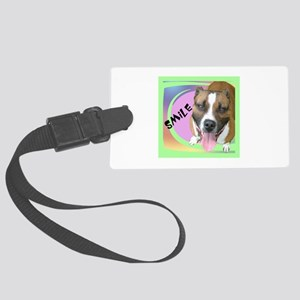 Smile Pit Bull Large Luggage Tag