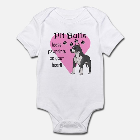 Pit Bulls Pawprints Infant Bodysuit