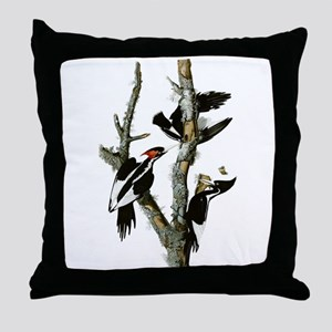 Ivory Billed Woodpeckers Throw Pillow