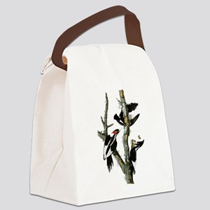 Ivory Billed Woodpeckers Canvas Lunch Bag