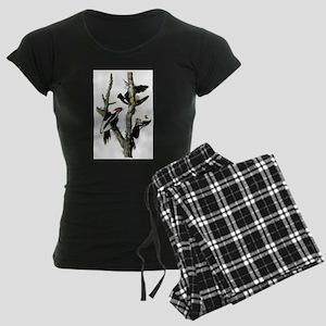 Ivory Billed Woodpeckers Women's Dark Pajamas