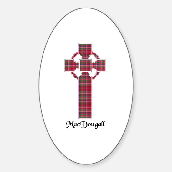 Cross - MacDougall Sticker (Oval)