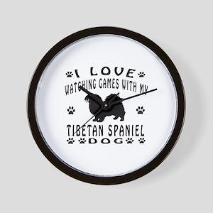Tibetan Spaniel design Wall Clock