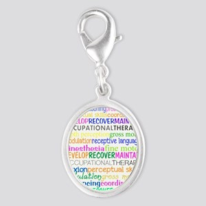 OT month 3 Silver Oval Charm