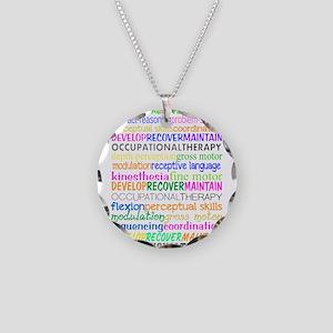 OT month 3 Necklace Circle Charm