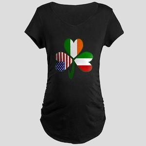 Shamrock of Italy Maternity Dark T-Shirt