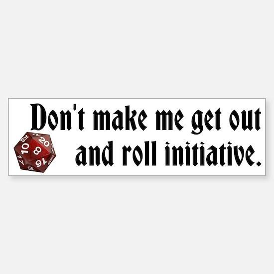 DnD roll initiative bumper sticker