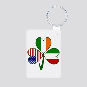 Shamrock of Italy Aluminum Photo Keychain