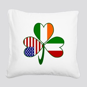 Shamrock of Italy Square Canvas Pillow