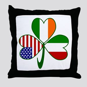 Shamrock of Italy Throw Pillow