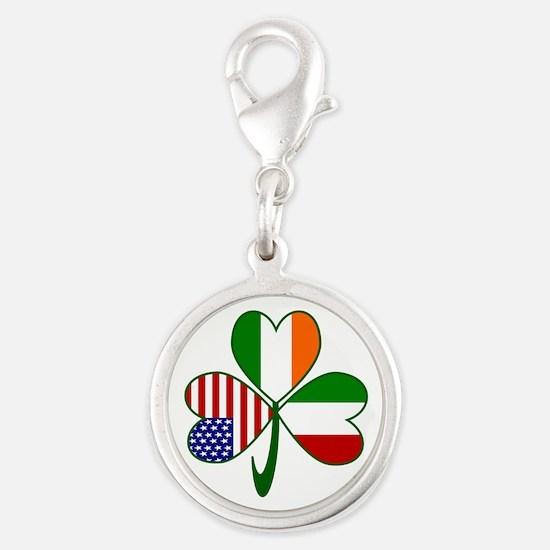 Shamrock of Italy Silver Round Charm