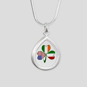 Shamrock of Italy Silver Teardrop Necklace