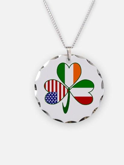 Shamrock of Italy Necklace Circle Charm