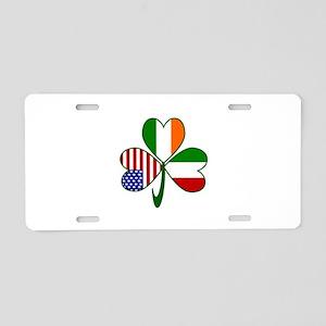 Shamrock of Italy Aluminum License Plate