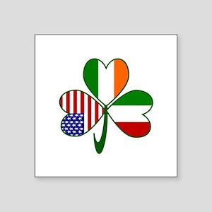 "Shamrock of Italy Square Sticker 3"" x 3"""