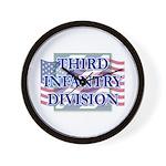 3ID Logo/US Flag Wall Clock