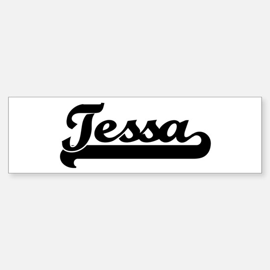 Black jersey: Tessa Bumper Car Car Sticker
