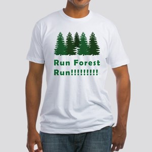 Run Forest Run Fitted T-Shirt