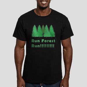 Run Forest Run Men's Fitted T-Shirt (dark)