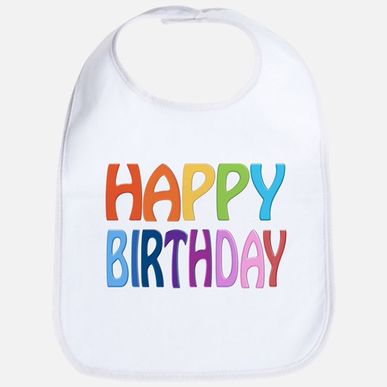 happy birthday - happy Bib