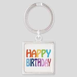 happy birthday - happy Square Keychain